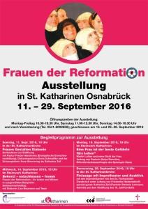 Ausstellungsplakat Frauen der Reformation 2016