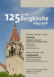 Plakat Einladung zu 125 Jahre Bergkirche (Bild: Konstantin Winkel)