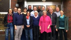 Gruppenbild des Kirchenrats der Evangelisch-reformierten Gemeinde Osnabrück (März 2019)